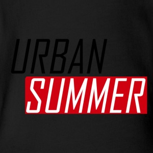 Urban Summer Logo - Short Sleeve Baby Bodysuit
