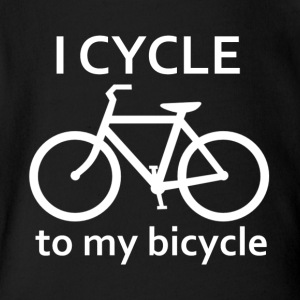 I Cycle to my Bicycle - Short Sleeve Baby Bodysuit