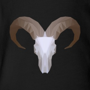 Low Poly Aoudad Skull - Short Sleeve Baby Bodysuit