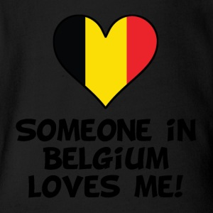 Someone In Belgium Loves Me - Short Sleeve Baby Bodysuit