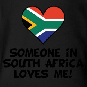 Someone In South Africa Loves Me - Short Sleeve Baby Bodysuit