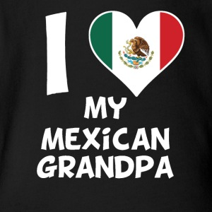 I Heart My Mexican Grandpa - Short Sleeve Baby Bodysuit