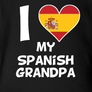 I Heart My Spanish Grandpa - Short Sleeve Baby Bodysuit