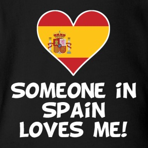 Someone In Spain Loves Me - Short Sleeve Baby Bodysuit
