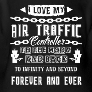 I Love My Air Traffic Controller To The Moon - Short Sleeve Baby Bodysuit