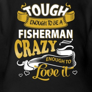 Touch enough to be a Fisherman - Short Sleeve Baby Bodysuit