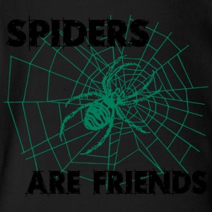 spiders are friends - Short Sleeve Baby Bodysuit