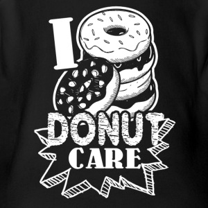 Funny Donut Humor I Do Not Care Shirt - Short Sleeve Baby Bodysuit