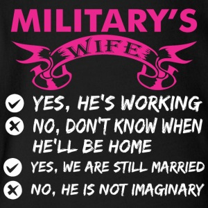 Militarys Wife Yes Hes Working - Short Sleeve Baby Bodysuit
