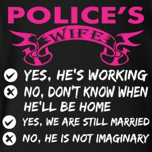 Polices Wife Yes Hes Working - Short Sleeve Baby Bodysuit