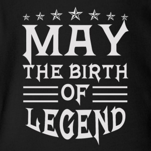 May The Birth of Legend - Short Sleeve Baby Bodysuit