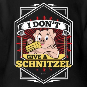I Don't Give A Schnitzel German Beer Oktoberfest - Short Sleeve Baby Bodysuit