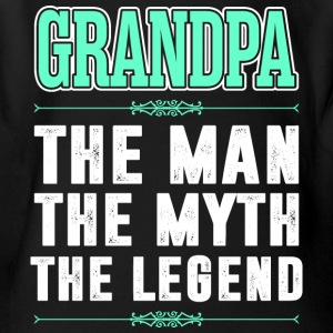 Grandpa The Man The Myth The Legend - Short Sleeve Baby Bodysuit