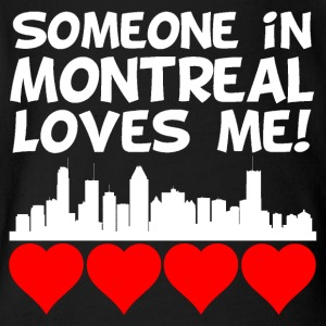Someone In Montreal Quebec Loves Me - Short Sleeve Baby Bodysuit