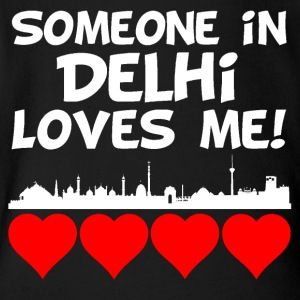 Someone In Delhi India Loves Me - Short Sleeve Baby Bodysuit