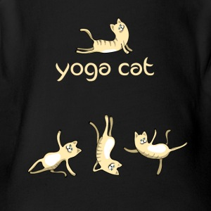 yoga Cat namaste shiva woman fun buddha cute humor - Short Sleeve Baby Bodysuit