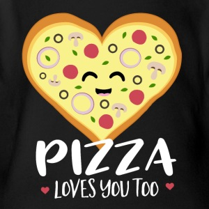 Pizza loves you too - Short Sleeve Baby Bodysuit