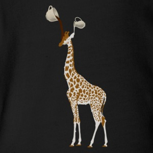 COFFEE GIRAFFE - Short Sleeve Baby Bodysuit