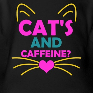 Cat's and Caffeine - Short Sleeve Baby Bodysuit