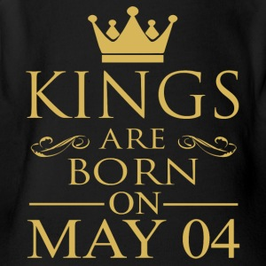 Kings are born on May 04 - Short Sleeve Baby Bodysuit
