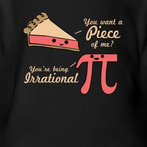 Want A Piece Of Me Pi Vs Pie - Short Sleeve Baby Bodysuit