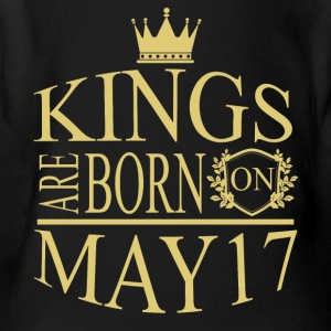 Kings are born on May 17 - Short Sleeve Baby Bodysuit