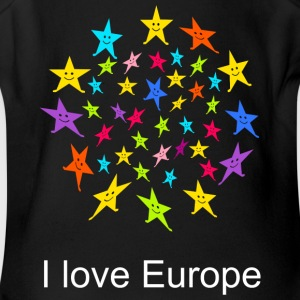 I love Europe Tshirt - Short Sleeve Baby Bodysuit