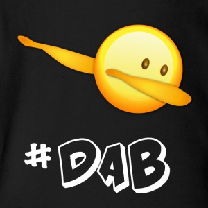 dab dabbing emoticon emo best football - Short Sleeve Baby Bodysuit
