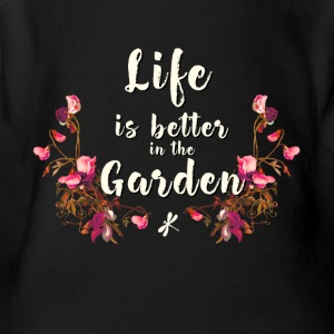 garden gardening Better nature flower plant vegan - Short Sleeve Baby Bodysuit