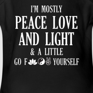 i m mostly peace love and light and a little - Short Sleeve Baby Bodysuit