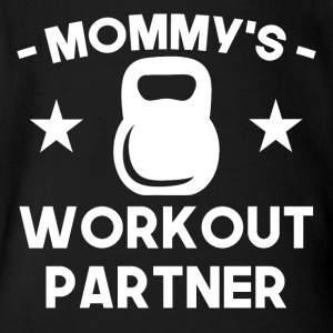 Mommy's Workout Partner - Short Sleeve Baby Bodysuit