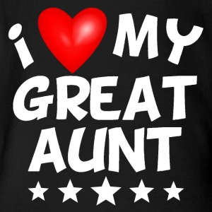 I Love My Great Aunt - Short Sleeve Baby Bodysuit