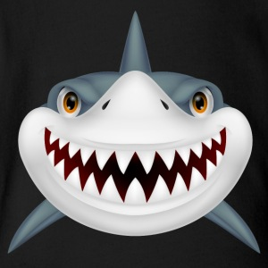 Scary Shark - Short Sleeve Baby Bodysuit
