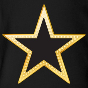 Gold and Black Star - Short Sleeve Baby Bodysuit