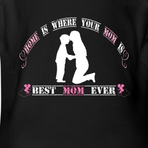 Best mom ever - Short Sleeve Baby Bodysuit