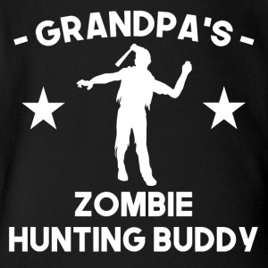 Grandpa's Zombie Hunting Buddy - Short Sleeve Baby Bodysuit