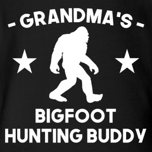 Grandma's Bigfoot Hunting Buddy - Short Sleeve Baby Bodysuit