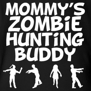 Mommy's Zombie Hunting Buddy - Short Sleeve Baby Bodysuit