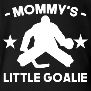 Mommy's Little Goalie Hockey - Short Sleeve Baby Bodysuit