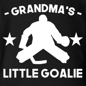 Grandma's Little Goalie Hockey - Short Sleeve Baby Bodysuit