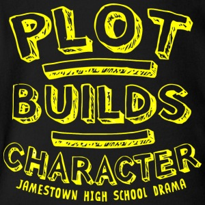 PLOT BUILDS CHARACTER JAMESTOWN HIGH SCHOOL DRAMA - Short Sleeve Baby Bodysuit