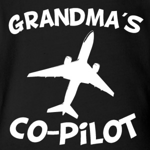 Grandma's Co-Pilot - Short Sleeve Baby Bodysuit
