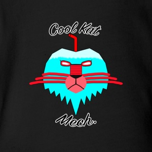 Cool Kat Mech. - Short Sleeve Baby Bodysuit