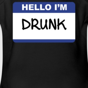 Hello I m Drunk - Short Sleeve Baby Bodysuit