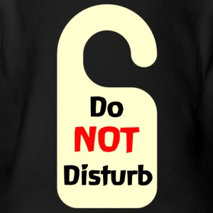 Do Not Disturb Tag - Short Sleeve Baby Bodysuit