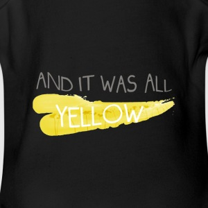 Coldplay - And It Was All Yellow - Short Sleeve Baby Bodysuit
