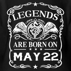 Legends are born on May 22 - Short Sleeve Baby Bodysuit