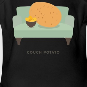 Couch Potato Pun - Short Sleeve Baby Bodysuit