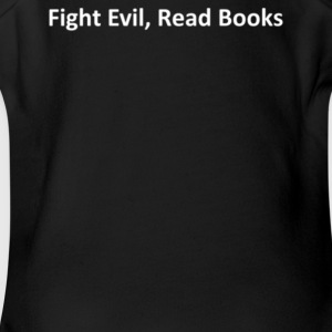 Fight Evil Read Books - Short Sleeve Baby Bodysuit