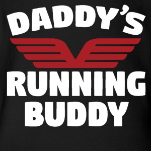 Daddy's Running Buddy - Short Sleeve Baby Bodysuit